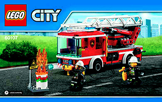 Kendte Fire Ladder Truck 60107 - LEGO City Fire - Building Instructions RE-23