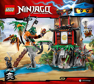 Tiger Widow Island 70604 Lego Ninjago Building Instructions