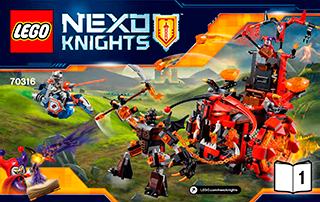 LEGO NEXO KNIGHTS Jestro's Evil Mobile STICKER SHEET ~ Replacement for Set 70316