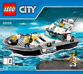 Police Patrol Boat 60129 Lego City Police Building Instructions
