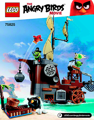 Piggy Pirate Ship 75825 Lego Angry Birds Building Instructions