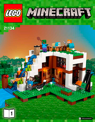The Waterfall Base 21134 Lego Minecraft Building Instructions