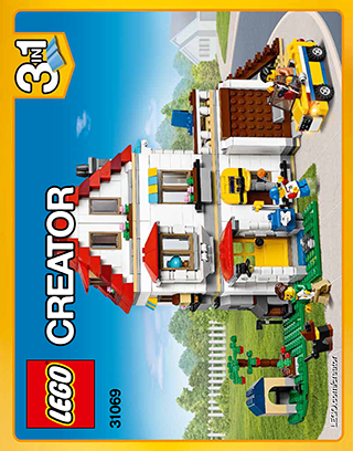 Modular Family Villa 31069 Lego Creator Building Instructions