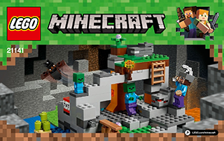 The Zombie Cave 21141 - LEGO Minecraft - Building Instructions