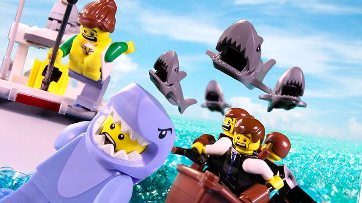 LEGO Shark Week Funny Stop Motion Video Minifigures