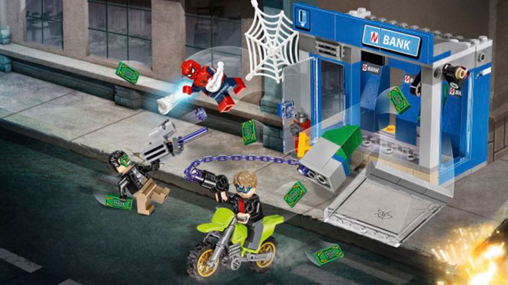 LEGO Marvel Super Heroes - Spider-Man Homecoming - ATM Heist Battle set
