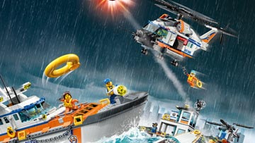 Find all the object in the LEGO City Coast Guard seek and find