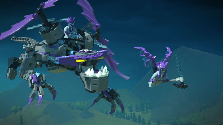 See how Clay takes down the Stone stomper in his flying Heligoyle!